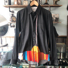 Load image into Gallery viewer, Acne Studios Black and Orange Button Down Shirt - M