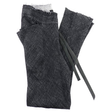Load image into Gallery viewer, InAisce Grey Linen Trousers With Leather Drawstring - 34