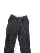 InAisce Grey Linen Trousers With Leather Drawstring - 34