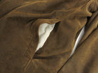 John Varvatos Brown Suede Zip Up Bomber Jacket - M