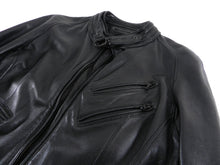 Load image into Gallery viewer, Julius 7 Tokyo Fall 2012 Black Leather Slim Fit Moto Jacket - XS