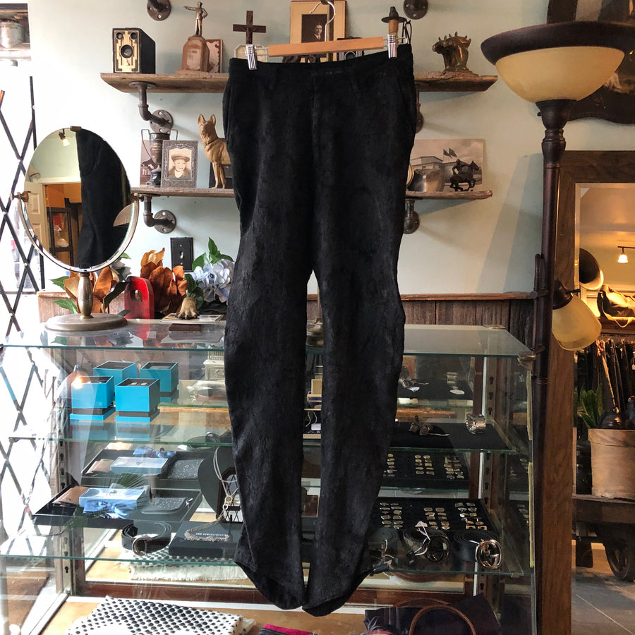 Julius Fall 2013 Black Suede Distressed Trousers - XS