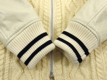 Load image into Gallery viewer, Junya Watanabe Comme Des Garcons Man Cable Knit Leather Sleeve Varsity Jacket - M
