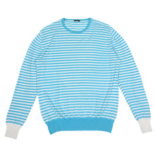 Load image into Gallery viewer, Kiton Perforated Long Sleeve Blue/White Small