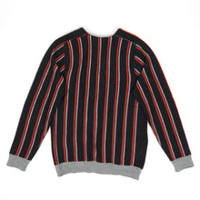 Load image into Gallery viewer, Lanvin Striped Wool Cardigan Grey/Red Medium
