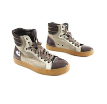 Load image into Gallery viewer, Lanvin Tennis Haute High Top Brown Suede and Leather Sneakers