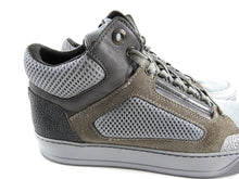 Load image into Gallery viewer, Lanvin Grey Mesh and Suede Mid Top Lace Up Sneakers - 6