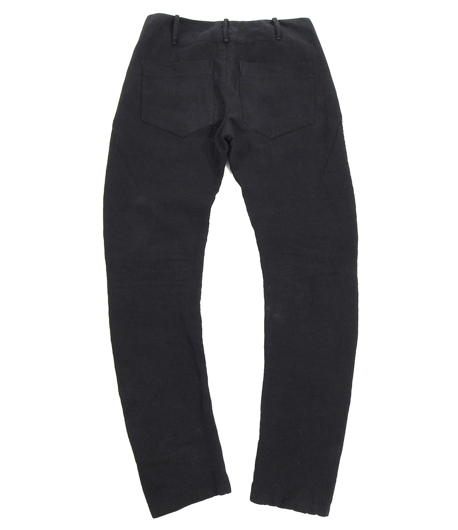 Lost and Found Ria Dunn Black Heavy Twill Cotton Trousers - L