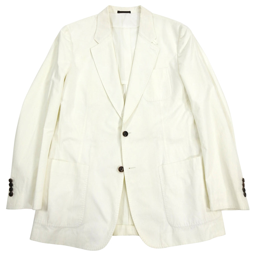 Louis Vuitton White Cotton Summer Blazer