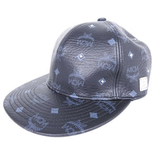 Load image into Gallery viewer, MCM Monogram Black and Gold Leather Strapback Cap