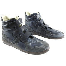Load image into Gallery viewer, Maison Margiela Dark Grey High Top Vel cro Gat Sneakers