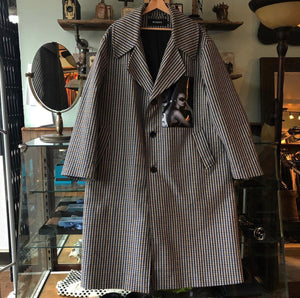 Misbhv Grey Dogtooth Oversized Coat - M