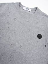 Load image into Gallery viewer, MSGM Hole Tee Grey Small
