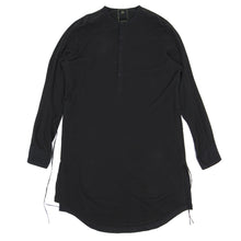Load image into Gallery viewer, Maharishi Long Pique Cotton Shirt Black Large