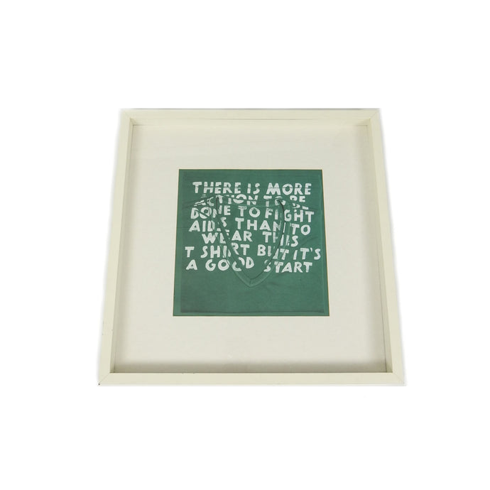 Margiela Framed Aids Print