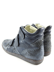 Maison Margiela Dark Grey High Top Vel cro Gat Sneakers - 42