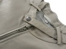 Load image into Gallery viewer, Maison Margiela Light Grey Moto Cafe Racer Jacket - L