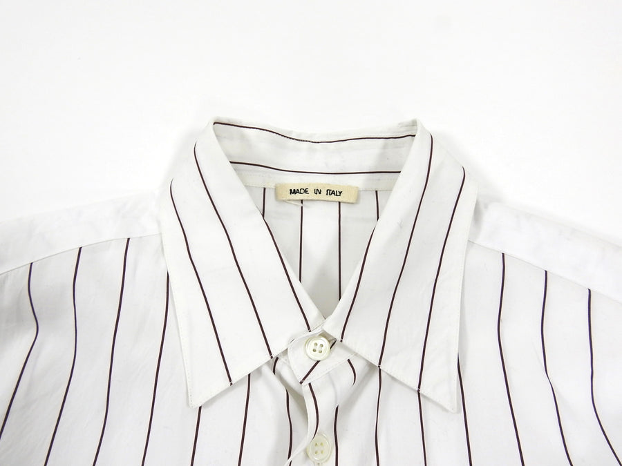 Marni Brown and White Pinstripe Shirt - L
