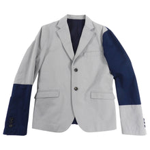 Load image into Gallery viewer, Marni Grey and Navy Colour Block Blazer -  38