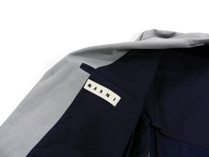 Marni Grey and Navy Colour Block Blazer -  38