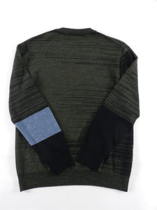 Marni Dark Green Knit Colour Block Pullover Sweater - S