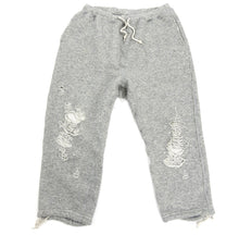 Load image into Gallery viewer, Miharayasuhiro Grey Cropped Distressed Joggers