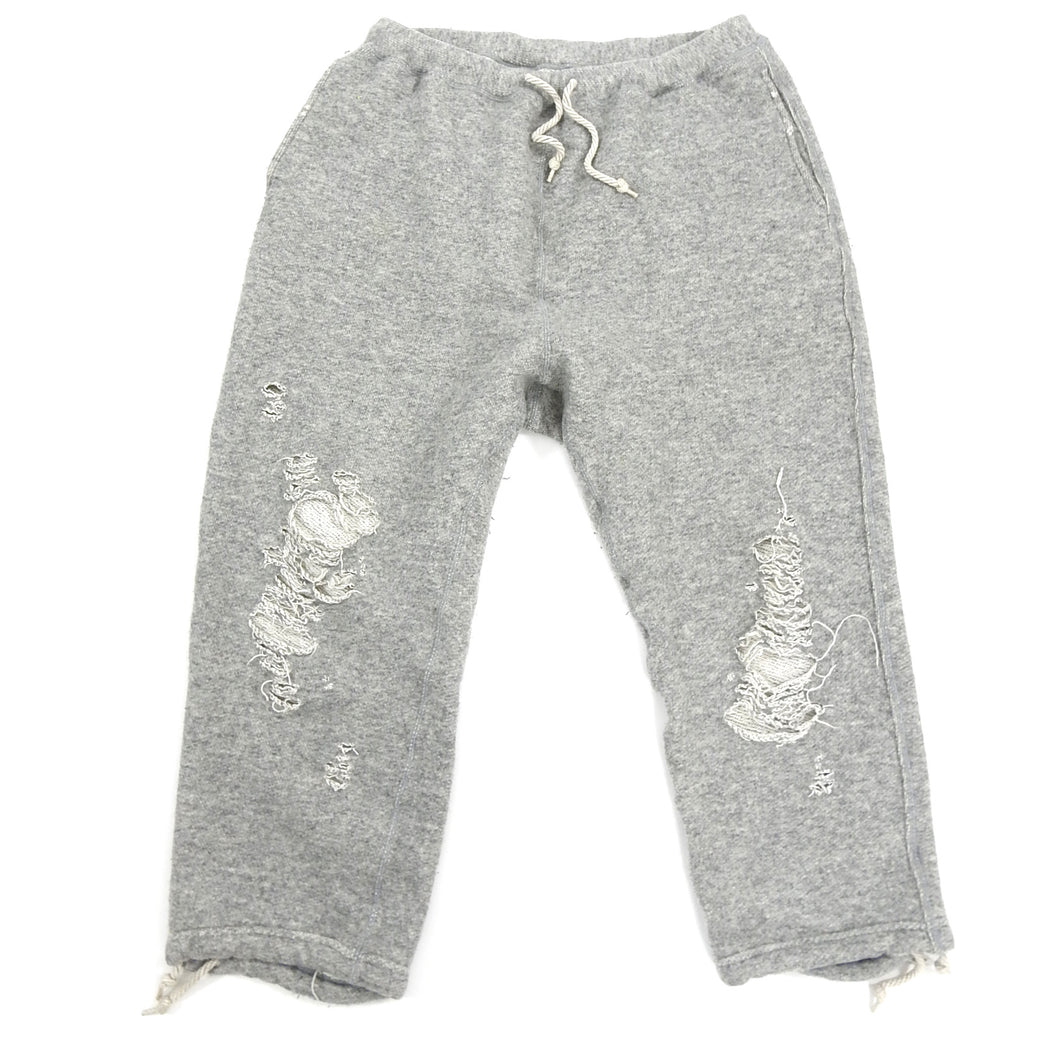 Miharayasuhiro Grey Cropped Distressed Joggers
