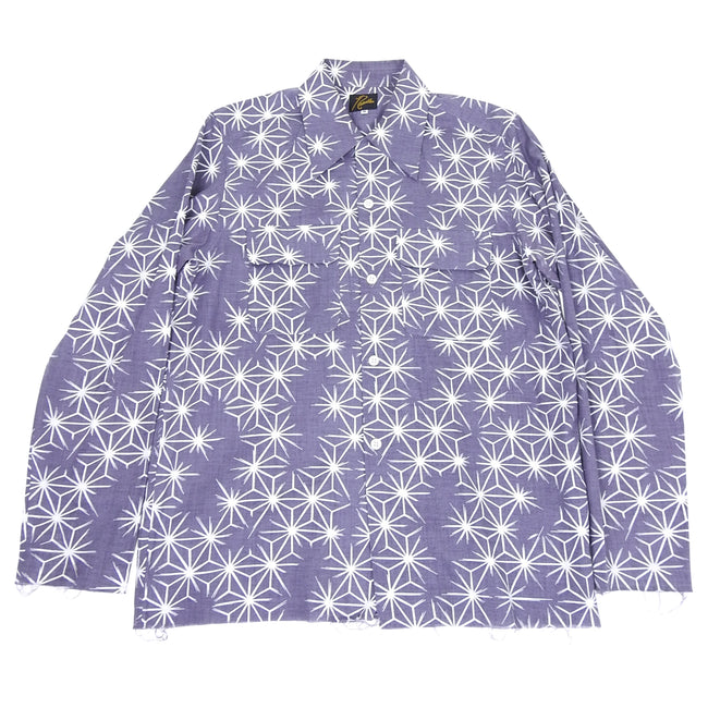 Needles Purple Star Button Up Long Sleeve Shirt - M