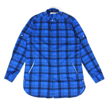 Load image into Gallery viewer, Nonnative Collarless Check Button Up Blue Size 3