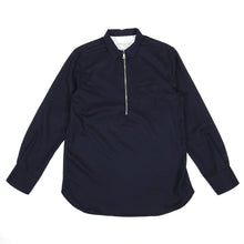 Load image into Gallery viewer, Officine Generale Wool 1/4 Zip Top Navy Medium