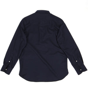 Officine Generale Wool 1/4 Zip Top Navy Medium