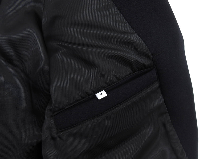 Ovadia & Sons Black Neoprene Moto Jacket - M