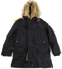 Load image into Gallery viewer, Parajumpers Black Right Hand Down Parka