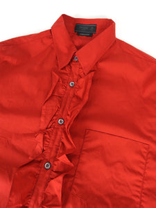 Prada Ruffle Shirt Red Size 39