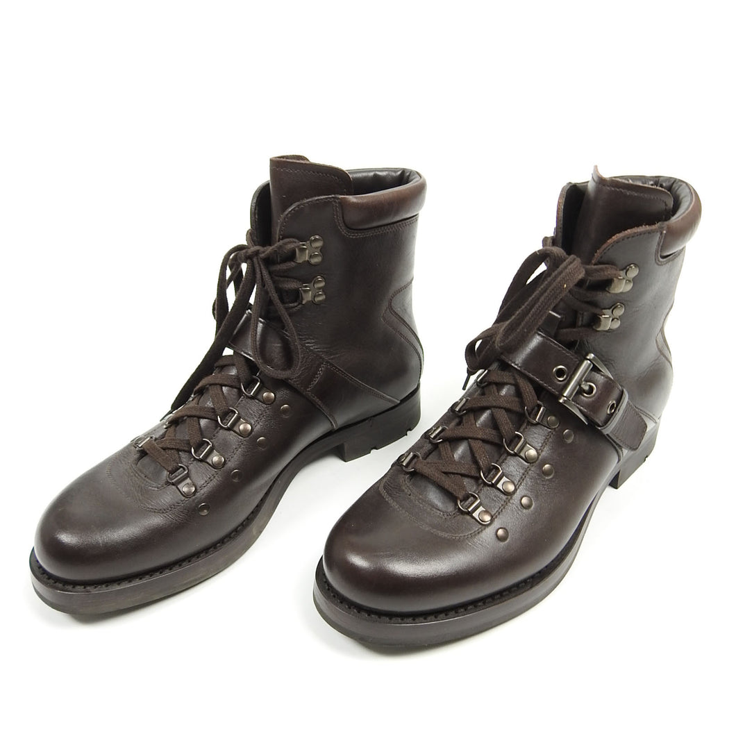 Prada Lined Hiking Boot Brown UK 7