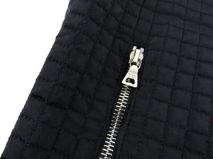 Prada Black Nylon Quilted Zip Vest - M