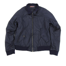 Load image into Gallery viewer, Prada Navy Nylon Zip Up Bomber Jacket