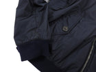 Prada Navy Nylon Zip Up Bomber Jacket - L