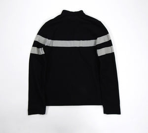 Prada Sport Black and Grey Banded Zip Up Long Sleeve Top - L