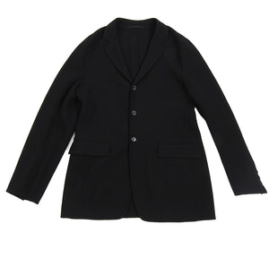 Prada Wool Black Unstructured Outerwear Blazer