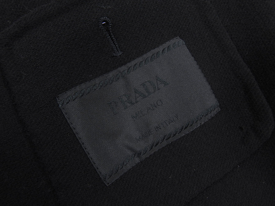 Prada Wool Black Unstructured Outerwear Blazer - L