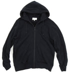 Public School Black Graphic Zip Up Hoodie