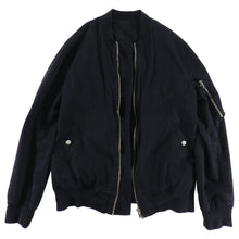 Load image into Gallery viewer, Rick Owens Vicious Spring 2014 Black Cotton Bomber Jacket - M