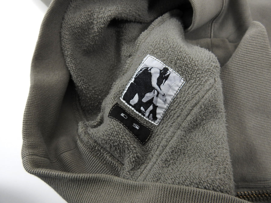 Rick Owens Drkshdw Light Grey Jason Hoodie - M