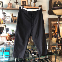 Load image into Gallery viewer, Rick Owens Black Silk Blend Cropped Trouser - 28
