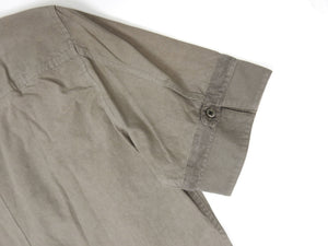 Robert Geller Short Sleeve Shirt Grey Size 48