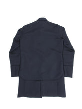 Load image into Gallery viewer, Sacai AW'16 Frayed Overshirt Coat Navy Size 2