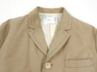 Sacai Beige Single Breasted Cotton Long Trench Coat - M
