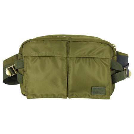 Sacai Army Green Nylon Cross-Body Belt Bag.