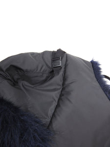 Sacai Faux Fur Hat Navy